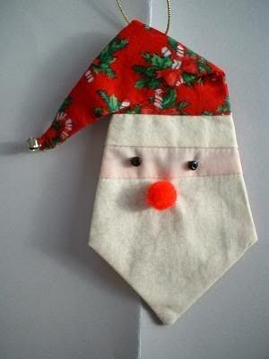 Paper Pieced Santa Ornament | Handmade christmas ornaments ...