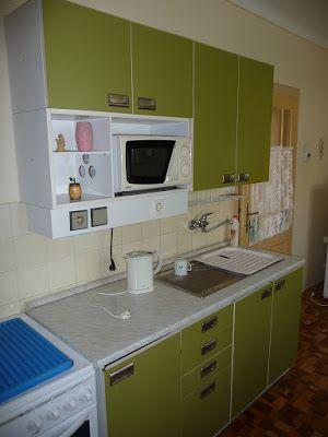 Dapur Rumah Sederhana Gabinetes De Cocina Verde Interior Muebles
