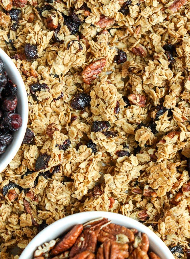 Cinnamon cranberry pecan granola recipe in 2020 with