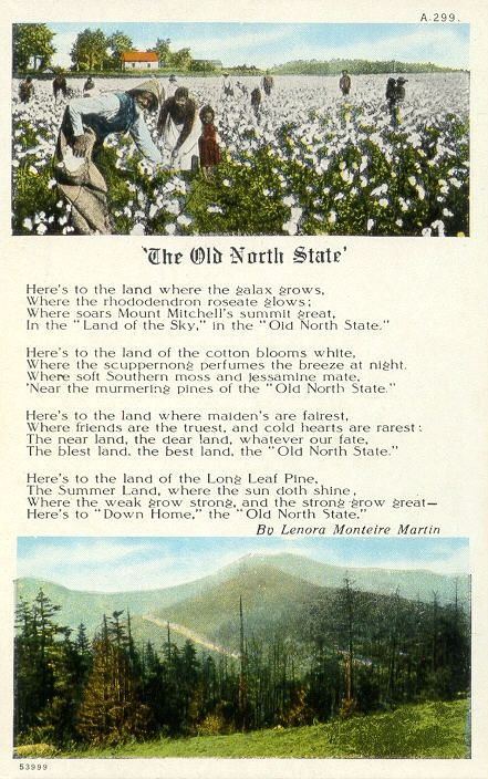 The Old North State Carolina Song