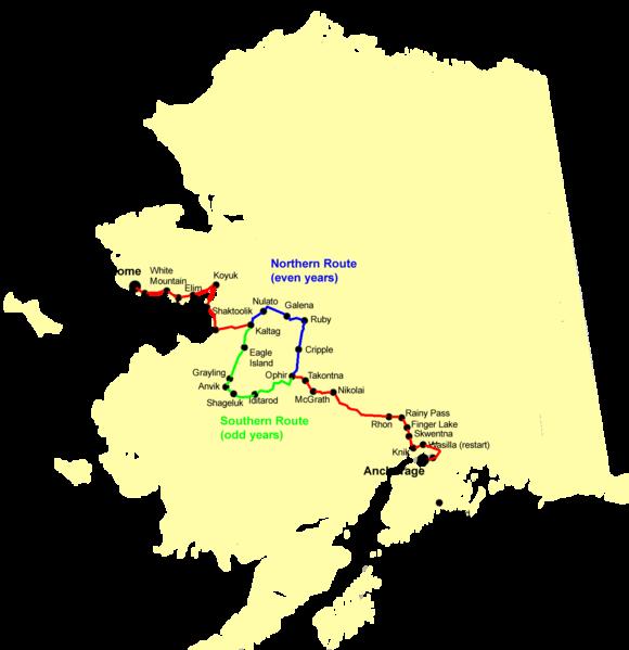 Iditarod Routes Southern Odd Years Northern Even Years Www Iditarod Com Iditarod Dog Sledding Alaska Dog