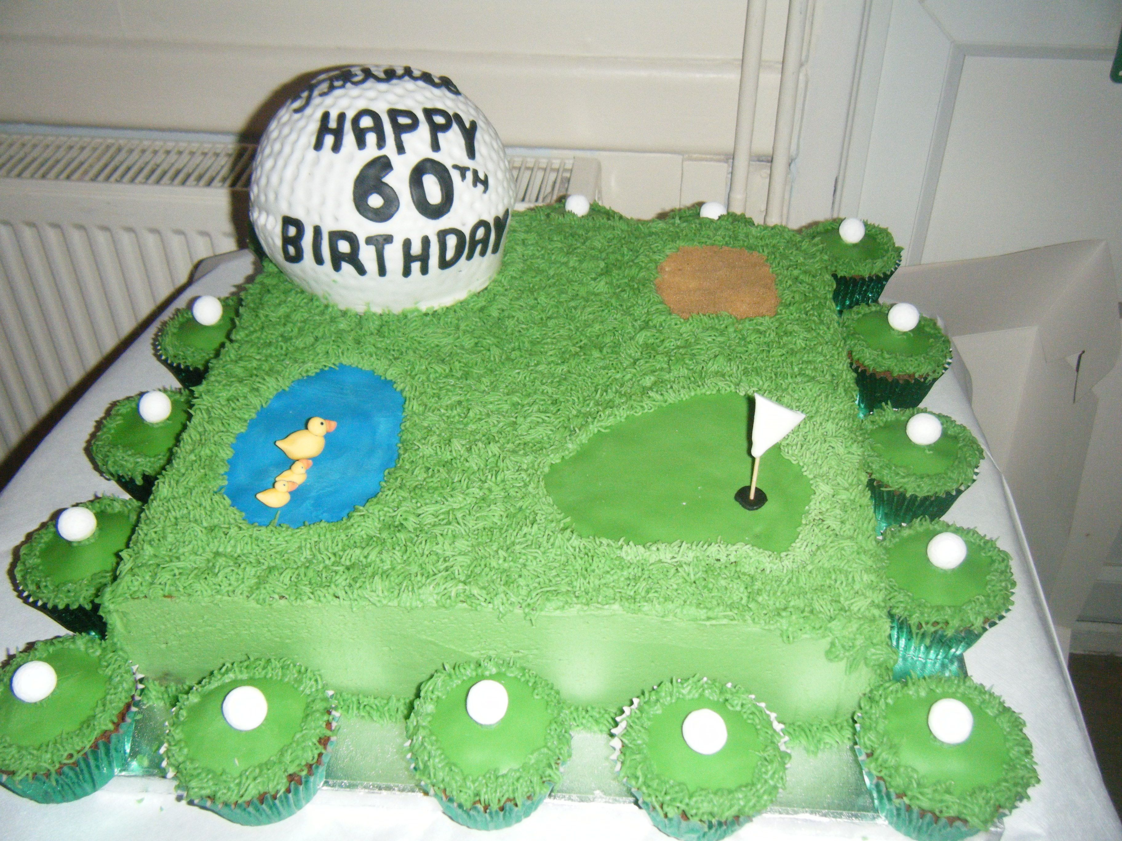60th Birthday Golf Cake | 60th birthday, Happy 60th birthday, Cake