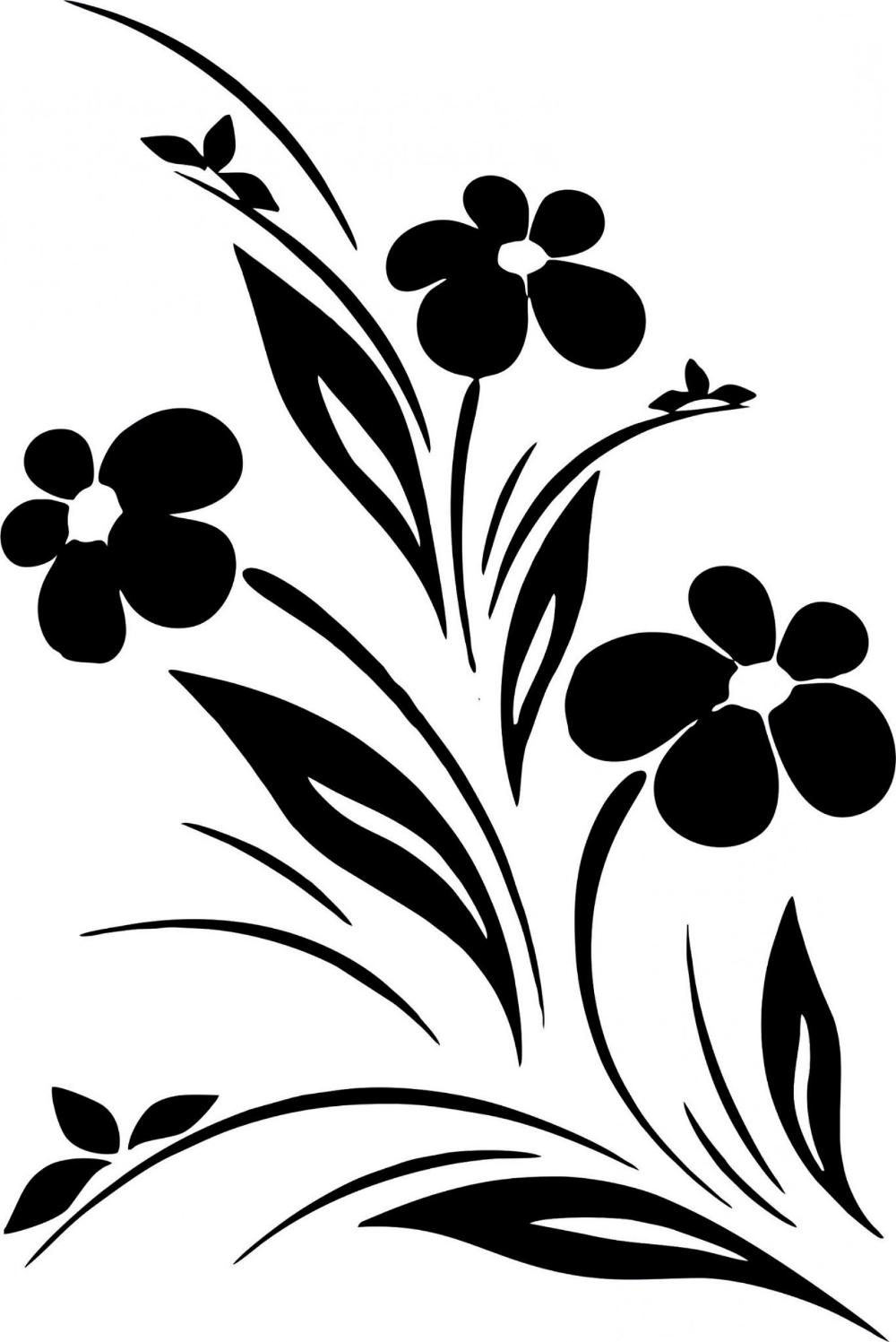 Flower Designs Black White Vector Art Vector flowers