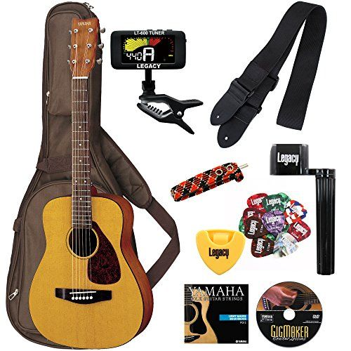 Yamaha Jr1 34 Size Acoustic Guitar With Gig Bag And Legacy Accessory Bundle Read More Reviews Acoustic Guitar Accessories Kids Acoustic Guitar Yamaha Guitar