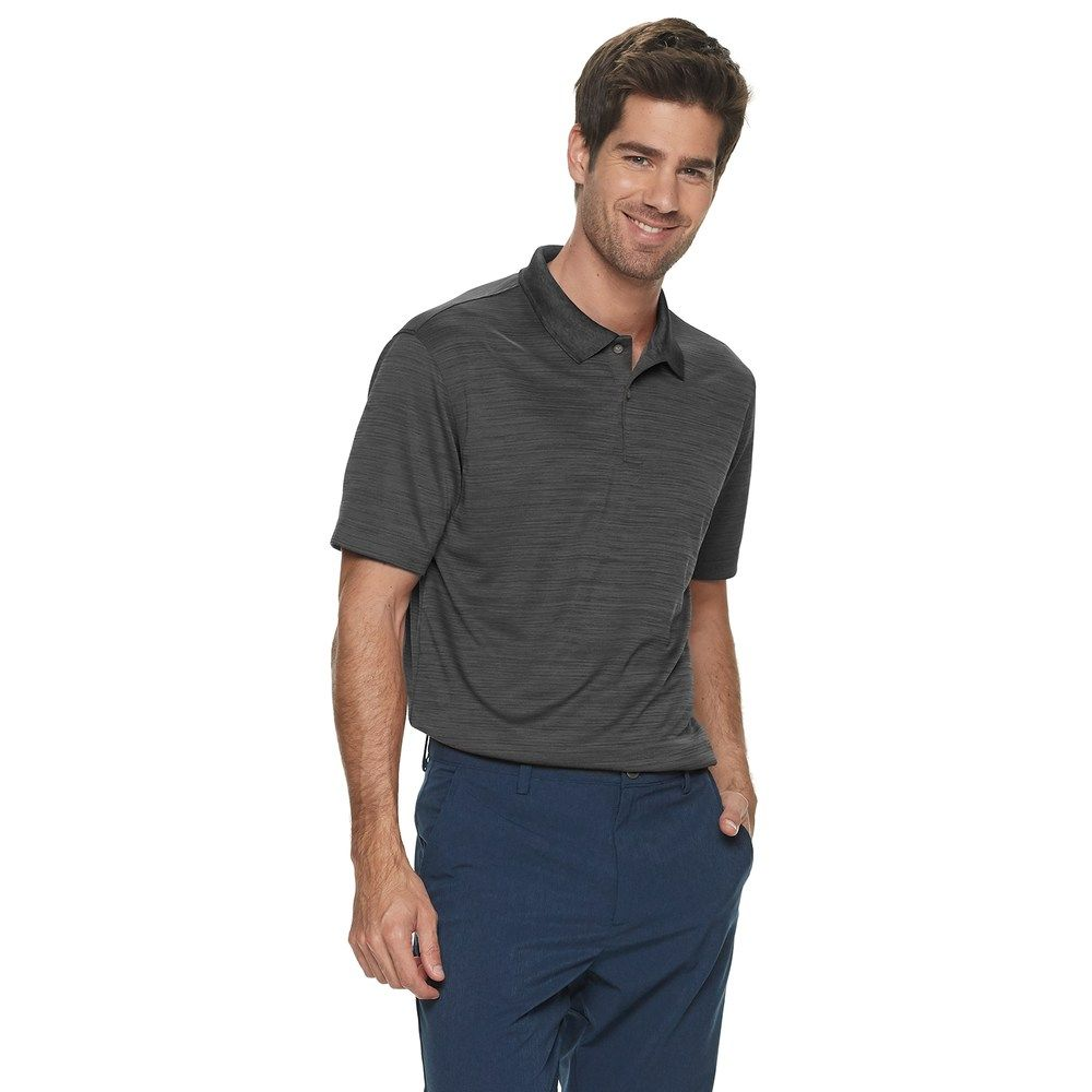 Men S Van Heusen Air Classic Fit Space Dye Polo Cool Style Mens Tops Traditional Sleeve