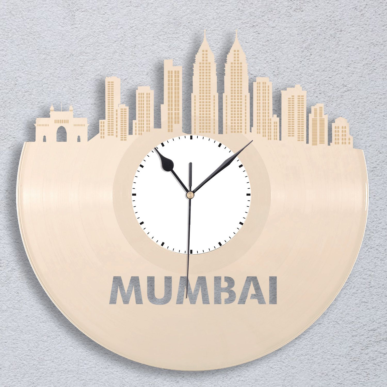 Mumbai Clock Indian Gift Personalized Clock Mumbai India Home