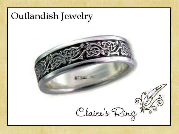 The Author S Attic A Novel Approach To Jewelry Outlander Jewelry Outlander Thistle Ring