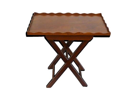 Table D Appoint Pliante En Bois Rebord Dentele Table D Appoint