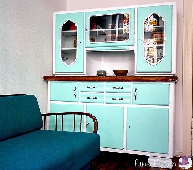 Vintage Küchenschrank neu lackieren Home Pinterest Upcycling - küche lackieren vorher nachher