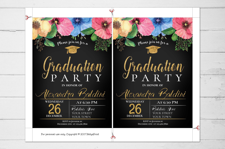 Graduation Party Invitation Graduation Invitation Template