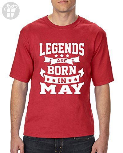 9fd6ac6dd Ugo Legends Are Born In May Popular Birthday Gift Match With Jeans Hat  Leggings Ultra Cotton Unisex T-Shirt Tall Sizes - Birthday shirts (*Amazon  ...