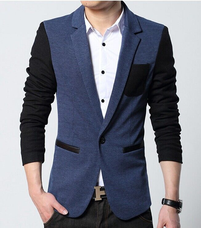 new style suit men brand casual jacket latest coat designs patch ...