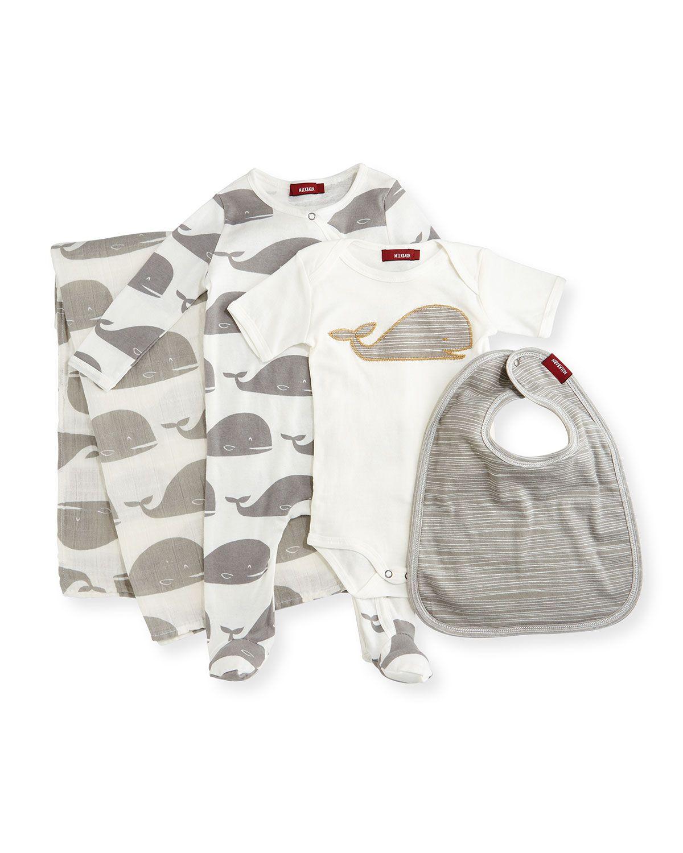 Medium Whale Suitcase Gift Set, Gray