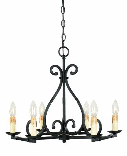 World Imports 61817 42 Rennes Collection 6 Light Chandelier Rust World Imports Lighting Http Www Amazon Com Dp B001 Wrought Iron Chandeliers Iron Chandeliers