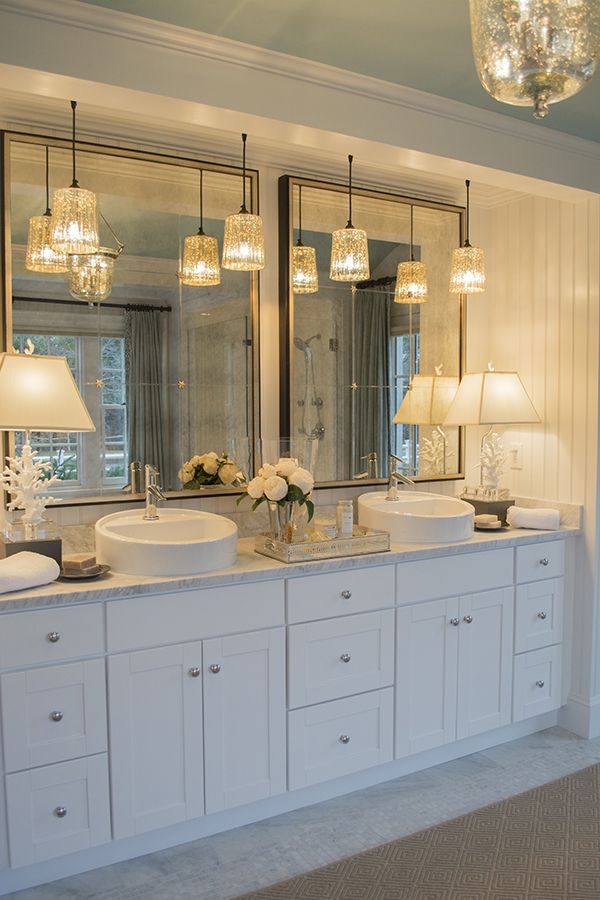 My visit to the hgtv dream home 2015 on marthas vineyard i love this lighting bathroom lighting always sucks