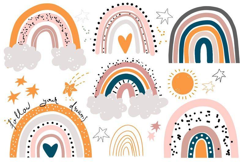 Rainbow cricut Rainbow svg Rainbow baby Rainbow svg cut file Boho rainbow svg Cute rainbow svg Rainbow pastel svg Rainbow baby svg