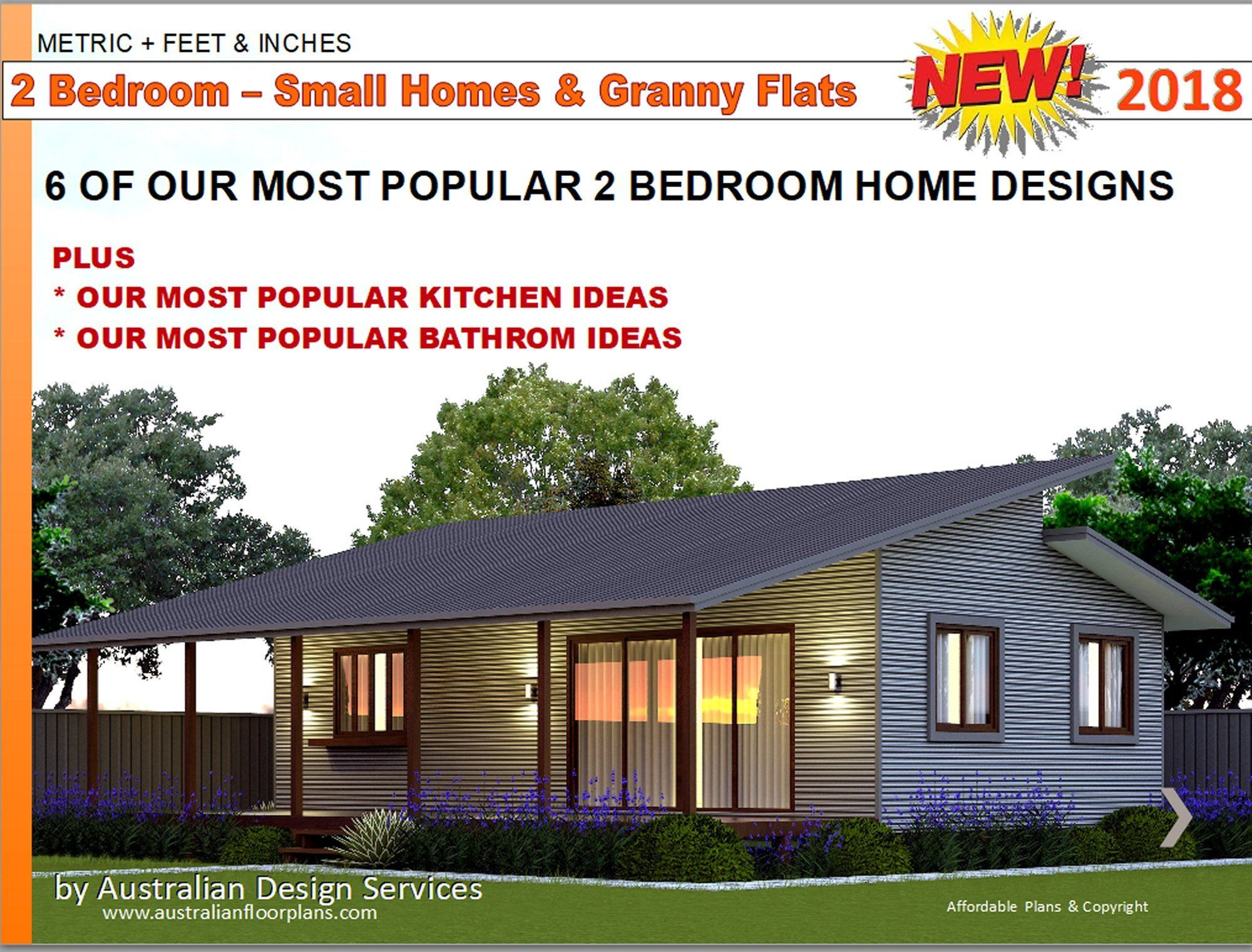 2 Bedroom House Designs Small Houses Granny Flats Home Etsy 2 Bedroom House Design Flat House Design Small House Design