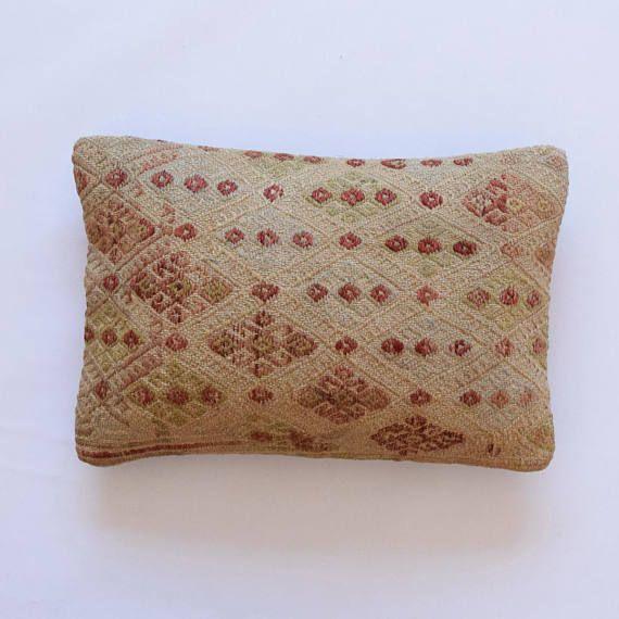 Cushion 14x20 Kilim Pillow Rustic Pillow Floor Cushion Kilim square ...
