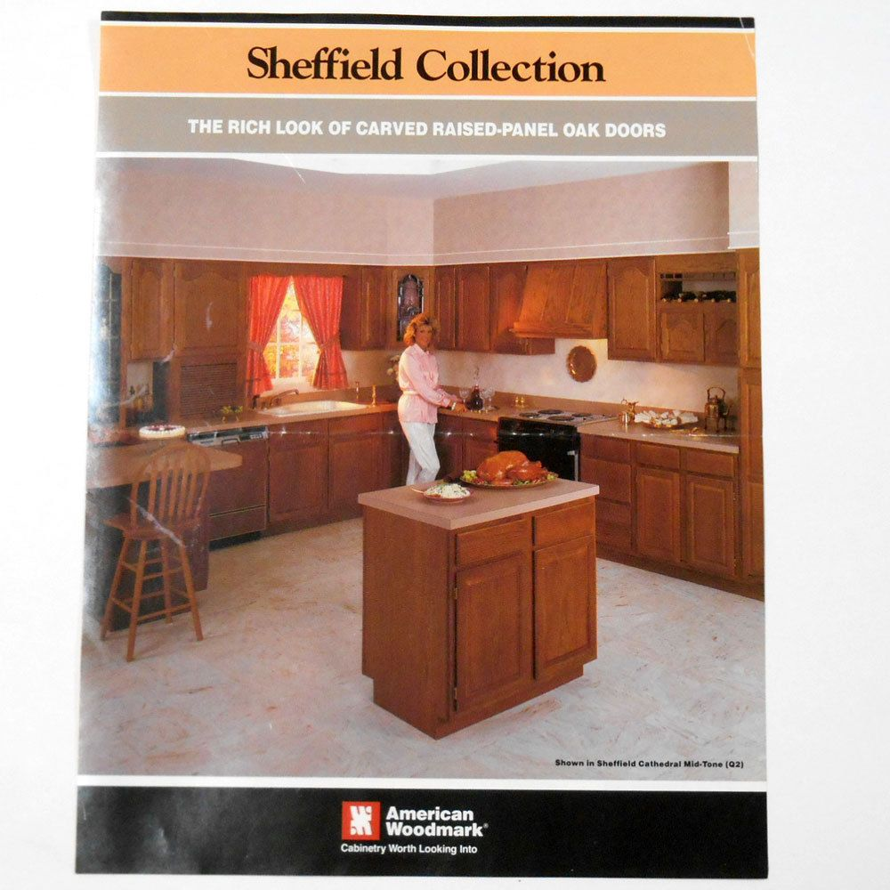 Vtg 1988 American Woodmark Kitchen Cabinets Brochure Ad Sheffield Captivating Kitchen Design Sheffield Inspiration