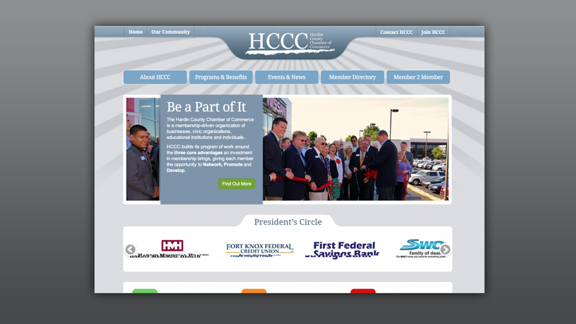 One Of Our Clients Hardin County Chamber Of Commerce Hardin County Website Design User Flow