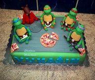 Cool Teenage Mutant Ninja Turtles cake :)