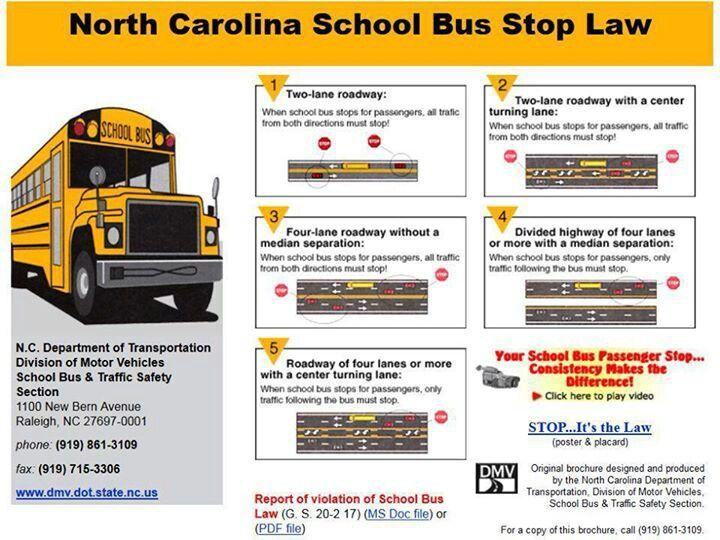 Nc School Bus Stop Law Www Gardianangelllc Com School Bus School Bus Stop