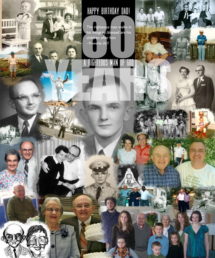 "80th Wedding Anniversary Gift: A ""senior Citizen"" Poster. Happy 80th Birthday To My Dad"