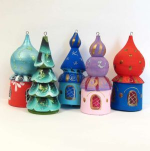 Russia Christmas Ornaments.Russian Domes Ornaments New Year S Tree Christmas