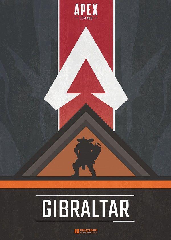 "Apex Legends Character Silhouettes Gibraltar #Displate explore Pinterest""> #Displate artwork by artist ""Jude Beavis"".… | Displate thumbnail"