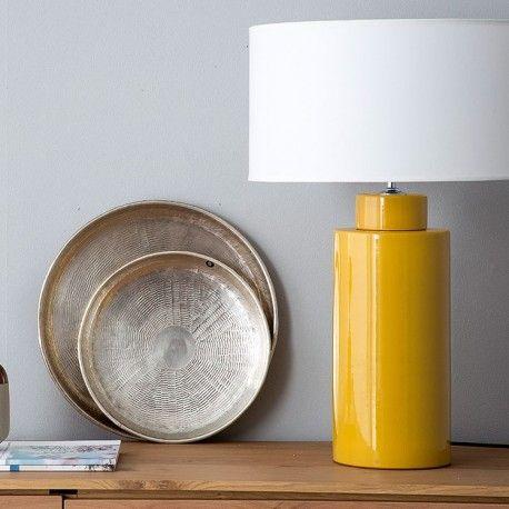 Amy pie de lámpara amarillo | Lámparas de cerámica, Lámparas