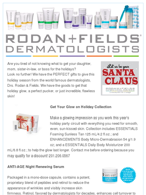 Rodan  Fields Holiday Newsletter  Newsletters
