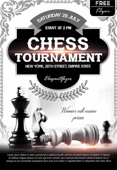 Chess Tournament Free Flyer Templateu2026 Flyers Pinterest Free - flyer samples for an event