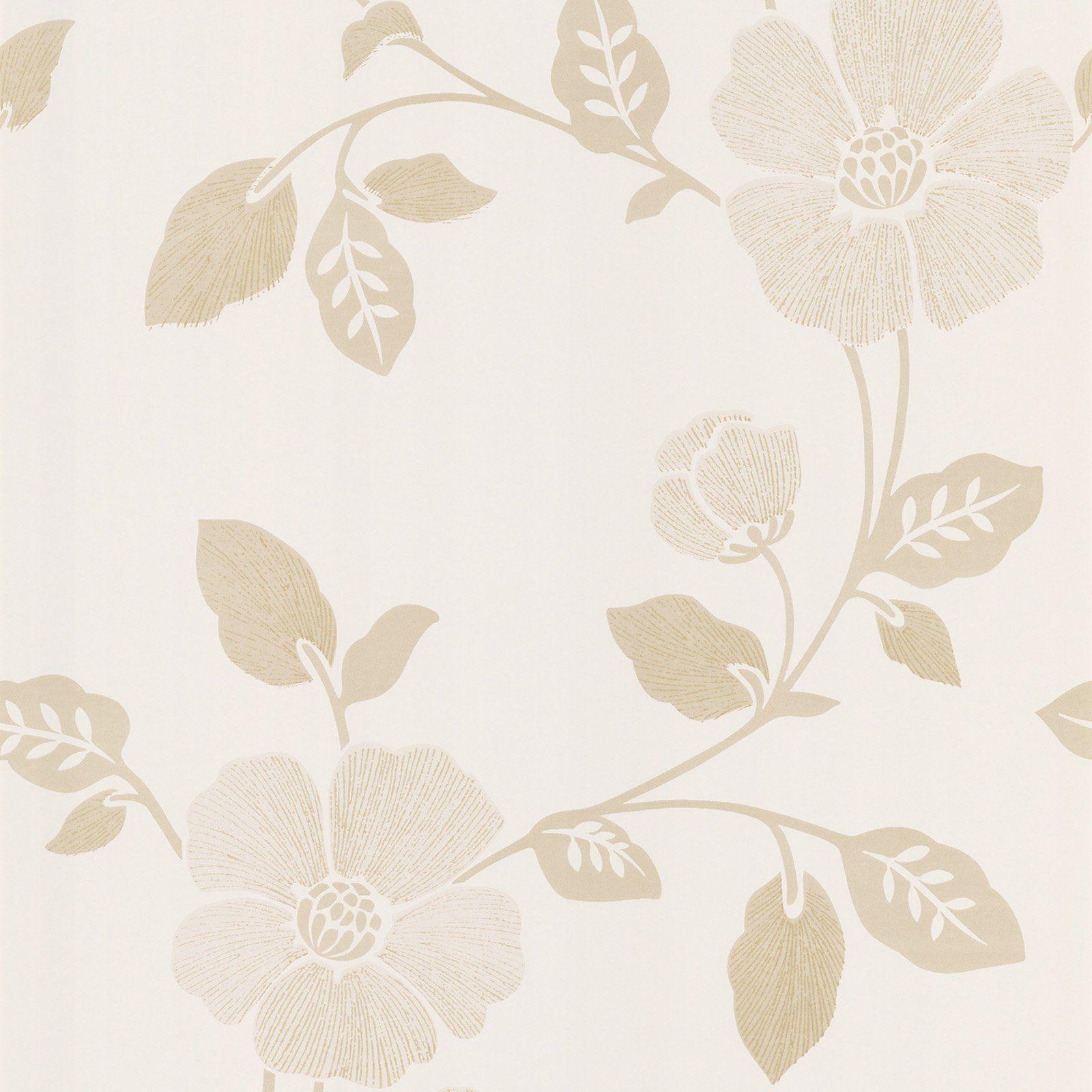 Beacon House Poppy Modern Floral Wallpaper Modern Floral