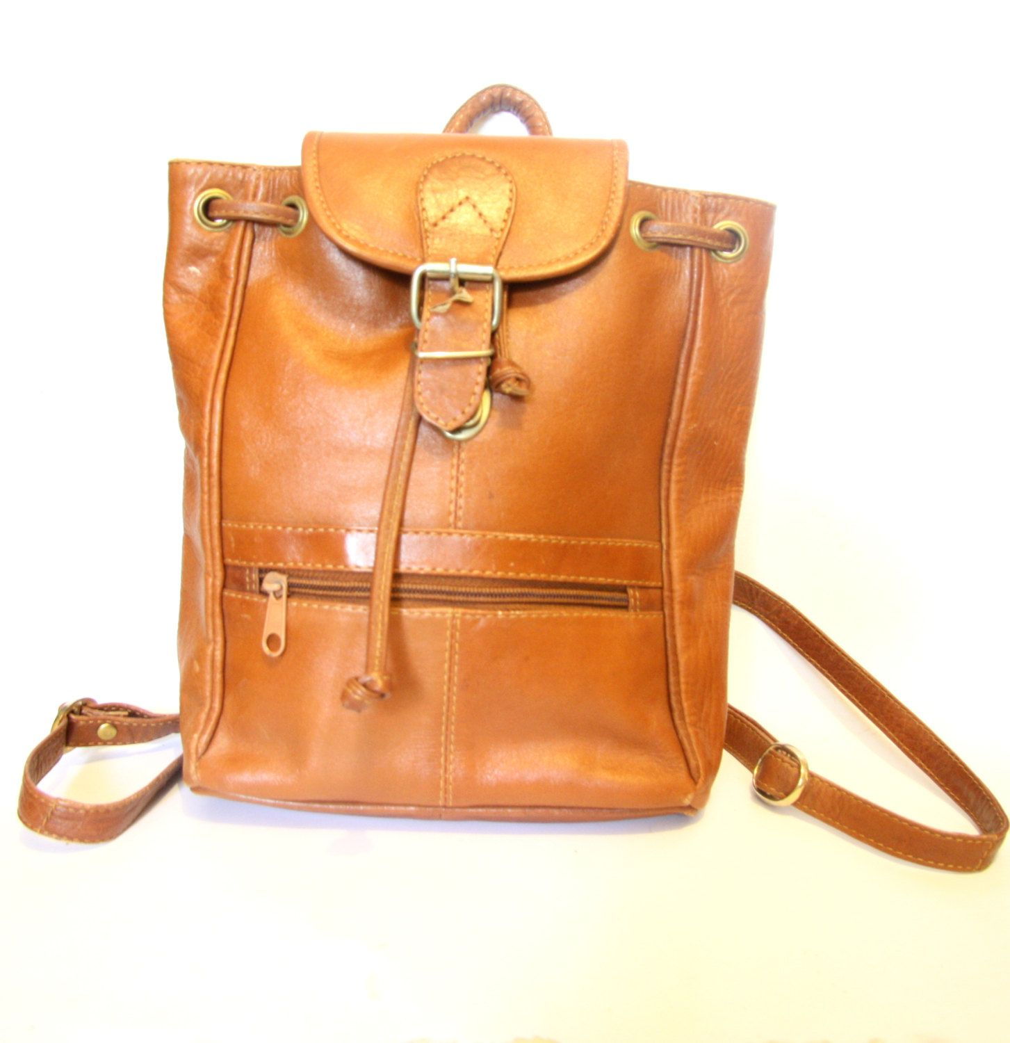 Was 140 Camel Leather Backpack Tan Orange Brown Rucksack 80s Tote Annapelle Handbags Myer 2018