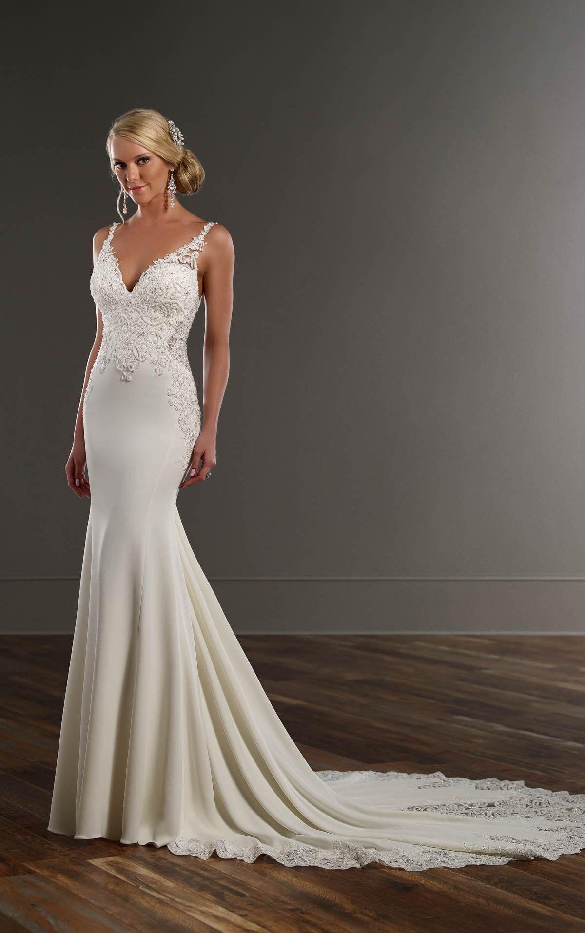 Organza Fit and Flare Wedding Gown | Hochzeitskleider, Brautkleider ...
