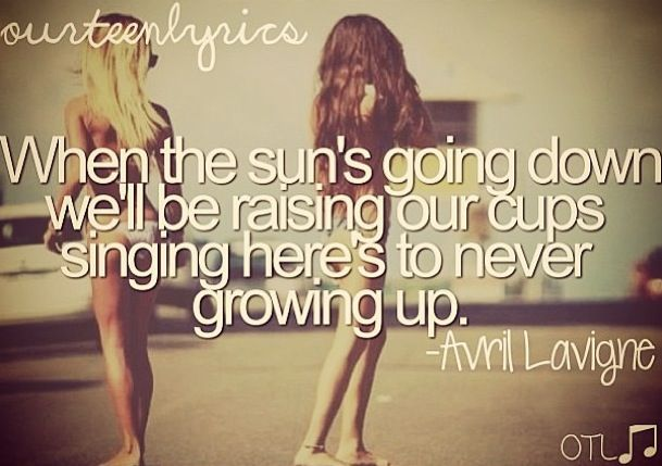 Never Growing Up Quotes