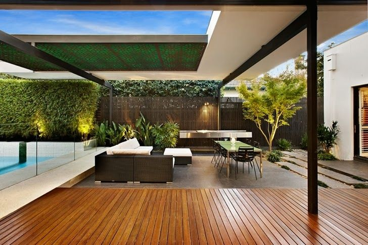 Beautiful Modern Backyard By Cos Design Relaxing Outdoor Spaces