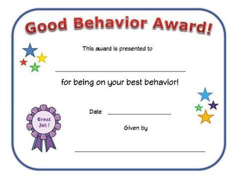 good behavior award certificate arabicEducation Pinterest - printable certificates of achievement