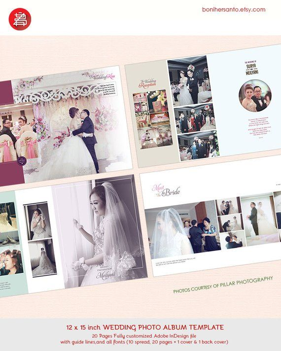 20 Pages Wedding Photo Al Design Template 12x15 Modern And Minimalist Style For Indesign