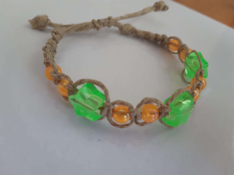 Neon Hemp Bracelet