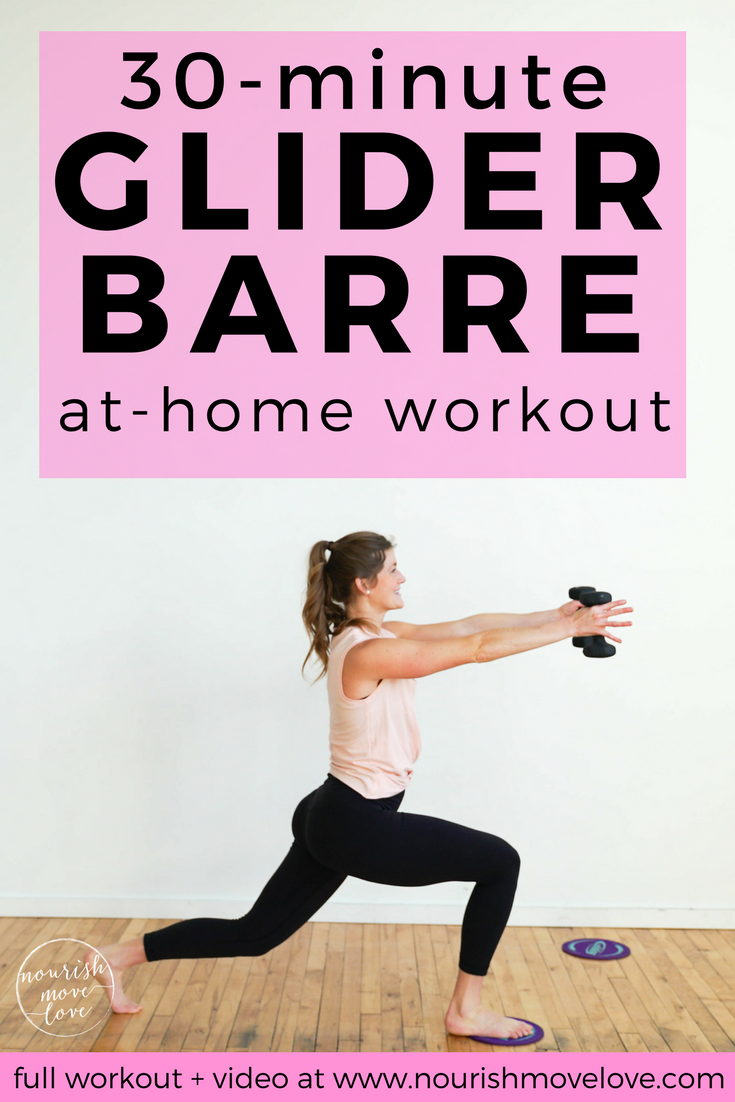 At-Home Glider Disc Barre Workout | Nourish Move Love