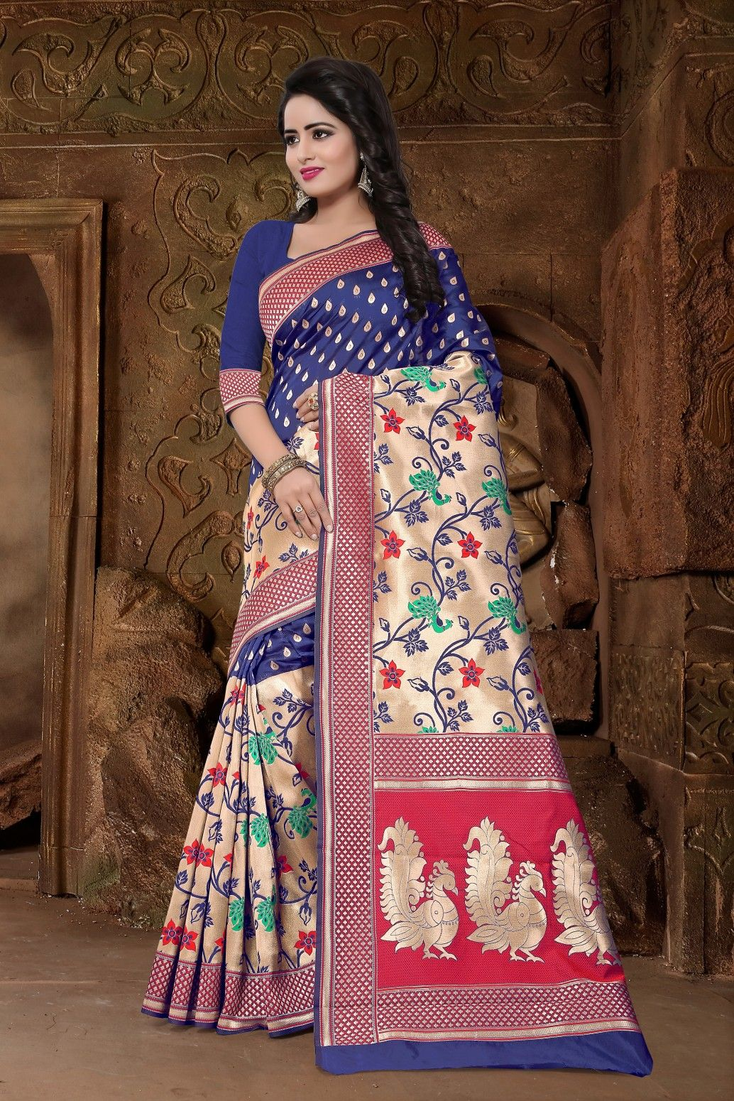 c6d80cc477 Buy Fashion Zonez Women Fancy Saree Online at Low prices in India on  Winsant, India