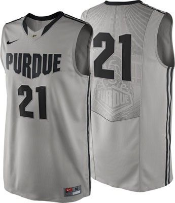 official photos 3200b 7be3b Purdue Boilermakers Grey Nike Authentic On-Court Basketball ...