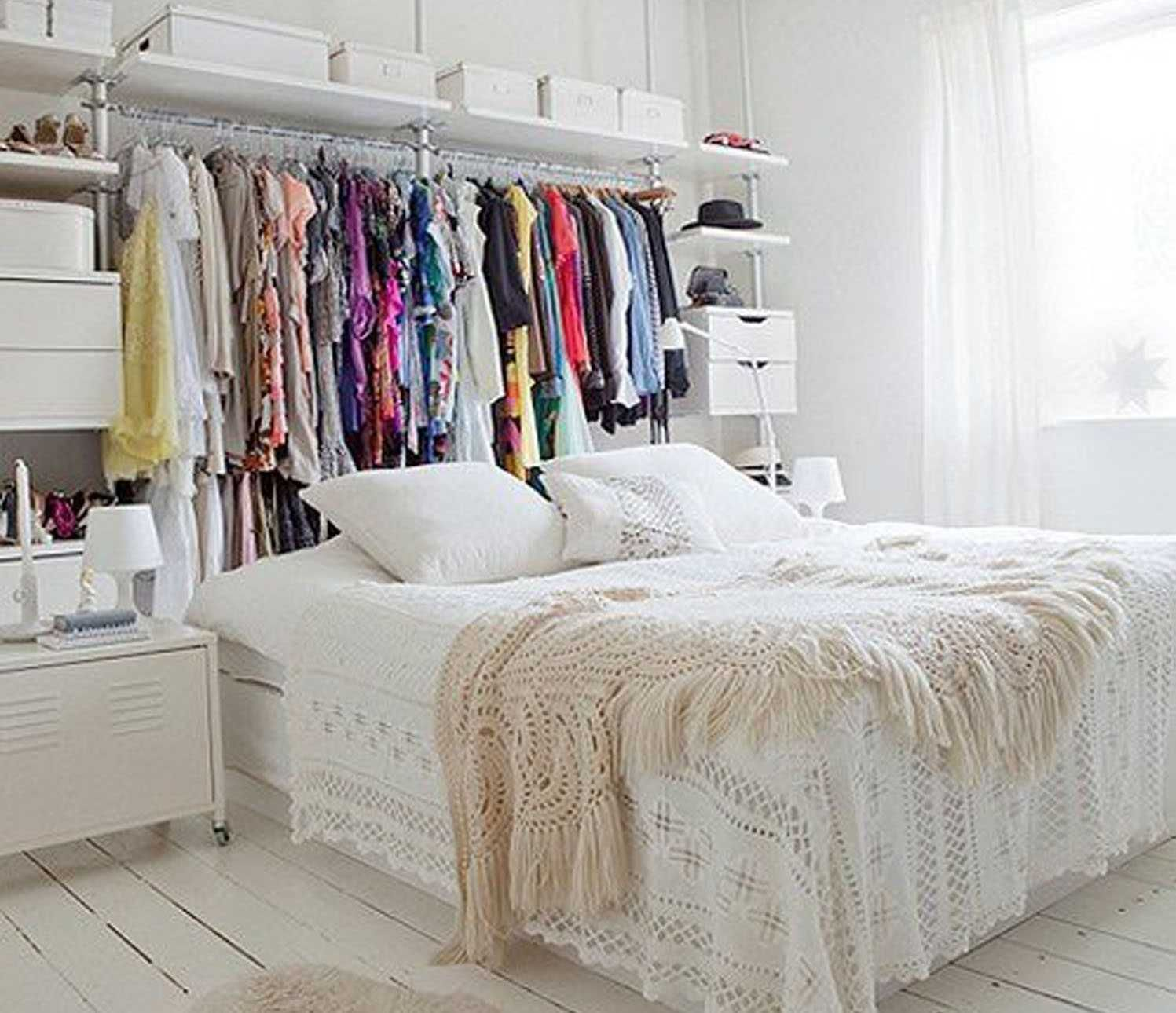 10 Storage Ideas For Bedrooms Without Closets Most Of The Awesome