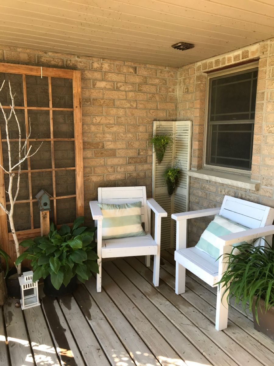 #diychairs #2by4chairs #outdoorfurniture #porchdecor #outdoorspace
