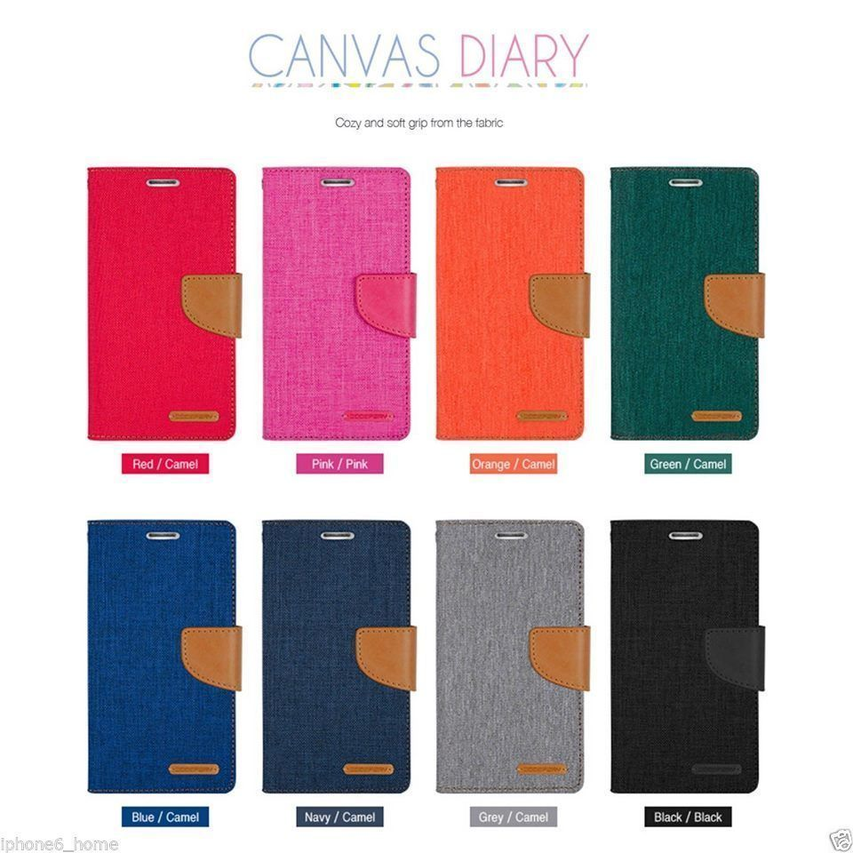 For Galaxy S5 Genuine Mercury Goospery Canvas Diary Flip Case Wallet Iphone 6 Plus 6s Fancy Brown Black Cover