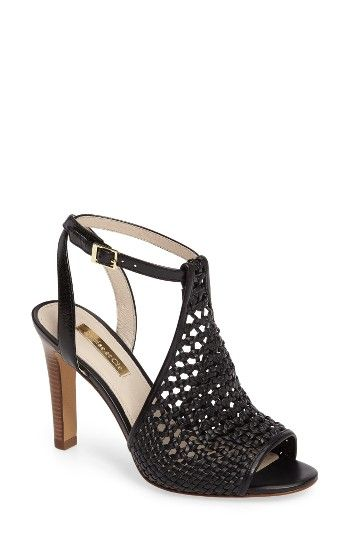 Free shipping and returns on Louise et Cie Halia Sandal (Women) at Nordstrom.com. Slender woven straps texture a halter-inspired sandal styled for summer with an open back and a daringly tall heel.