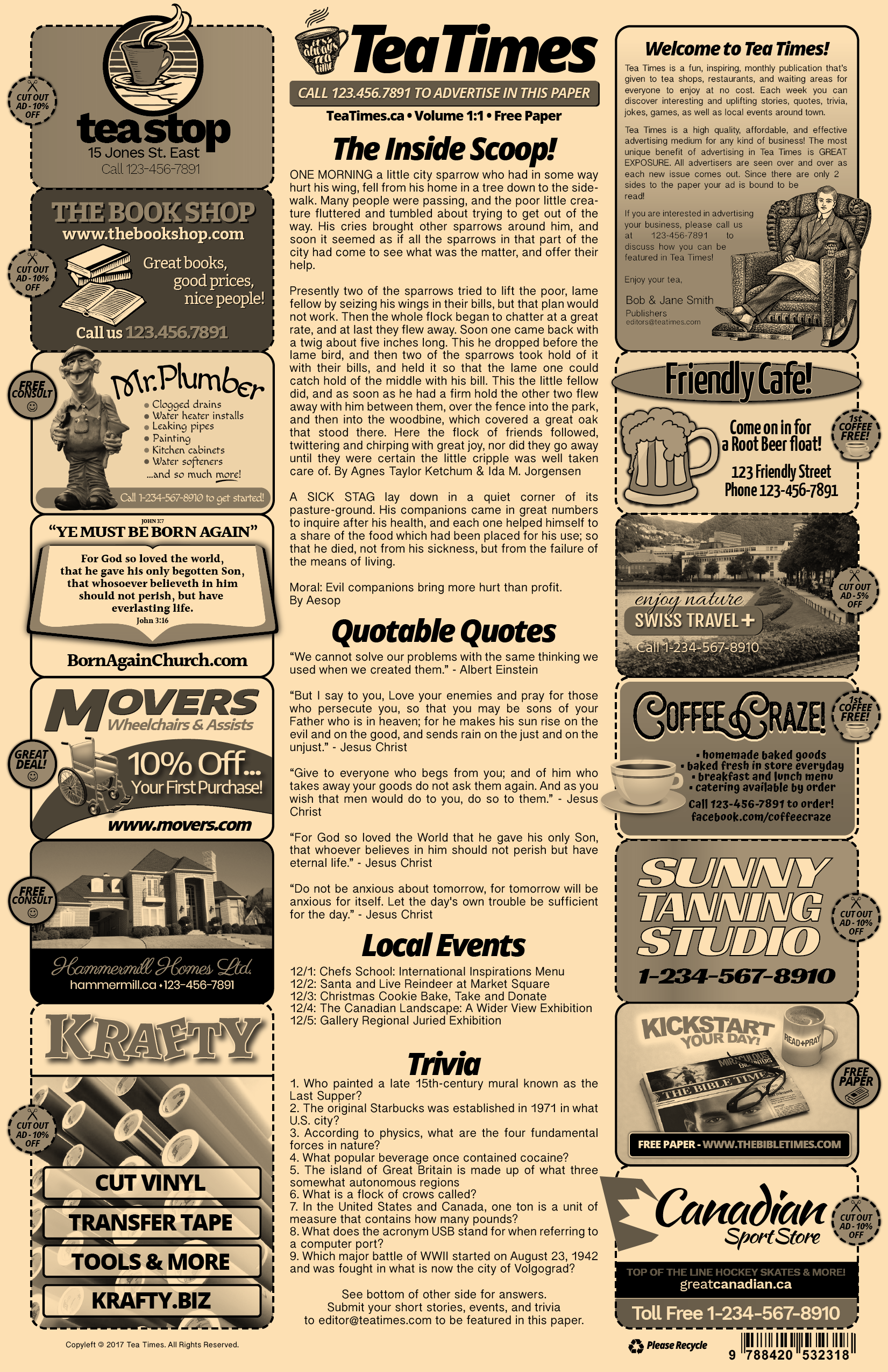 7 Newspaper Style Templates Bundle 7 Newspaper Templates 50 Off