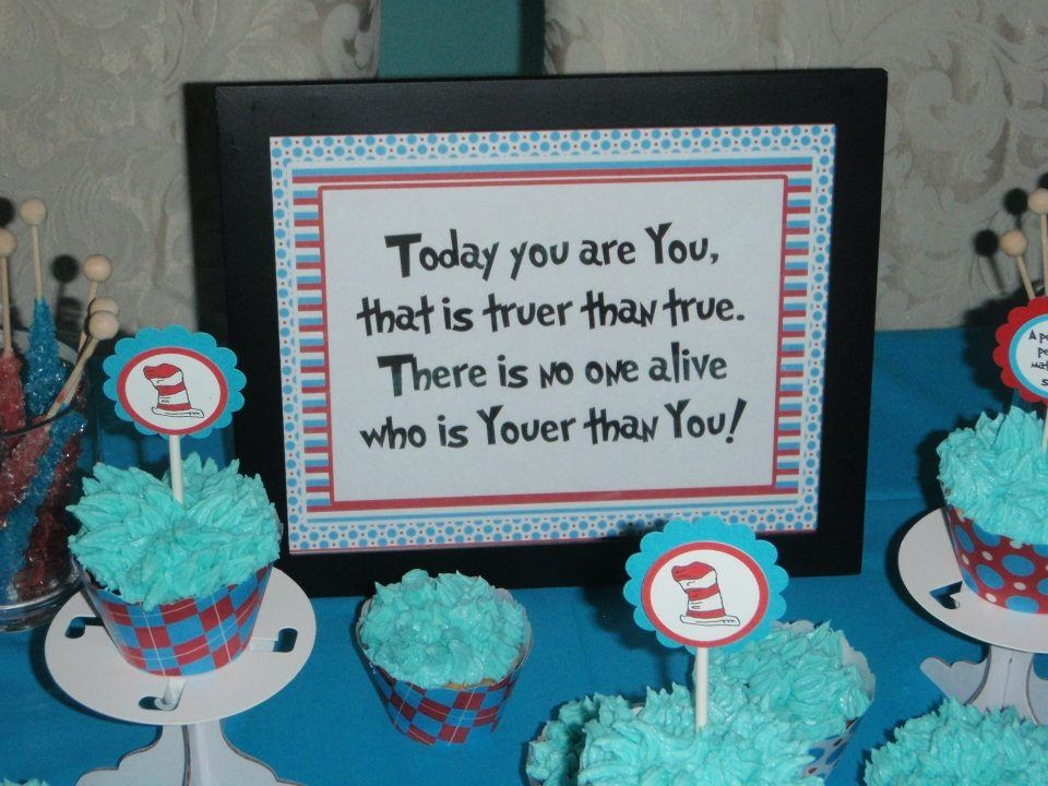 Dr Seuss Thing 1 & Thing 2 birthday party Super cute have