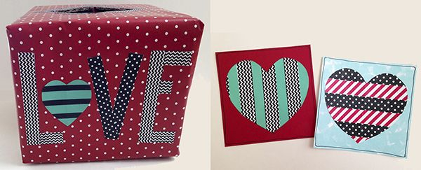 """Use patterned paper tapes to create cute Valentine's Day cards and a family """"mailbox."""" Here's how!"""